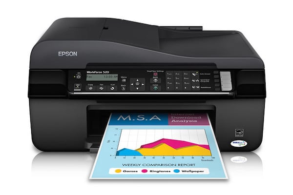 Сброс памперса Epson WorkForce 520