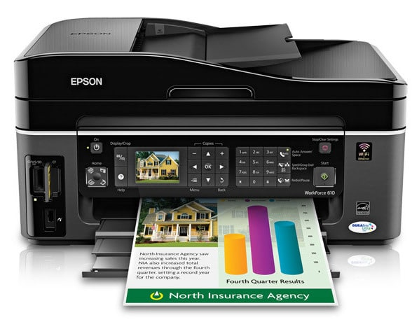 Сброс памперса Epson WorkForce 610